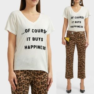 "Wildfox | ""Of Course It Buys Happiness"" V-Neck S"